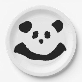 Assiettes En Papier Visage de panda