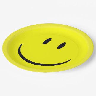 Assiettes En Papier Visage souriant
