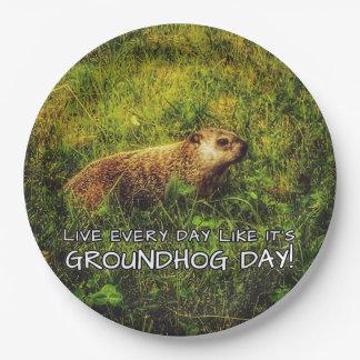 Assiettes En Papier Vivent chaque jour comme c'est jour de Groundhog !
