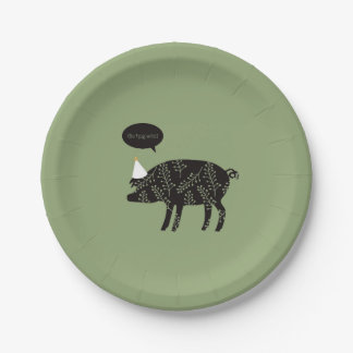 Assiettes En Papier Vont le porc sauvage ! Plaque à papier