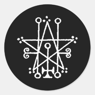 Astaroth Sigil Sticker Rond