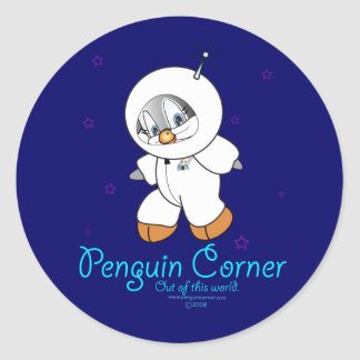 Astronaute de pingouin de penny adhésif