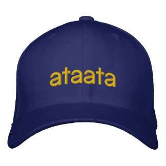 ataata, granfather, grand oncle casquette brodée