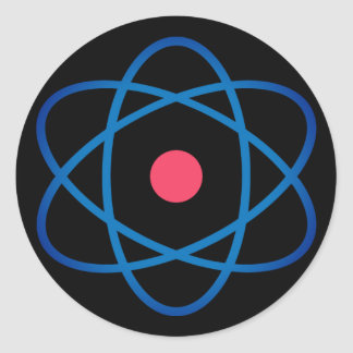 Atome simple d'Emoji Sticker Rond