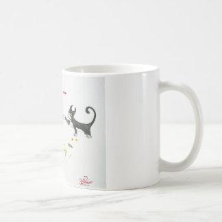 Attaque de chat mug blanc