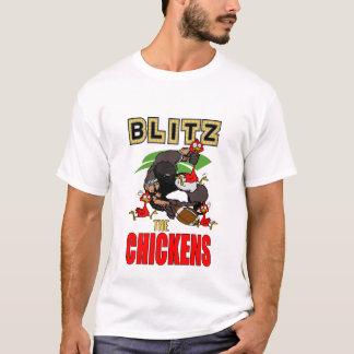 Attaque éclaire le T-shirt de poulets