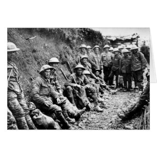 Attente dans les fossés WWI Carte