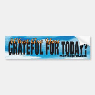 Attitude d'autocollant de gratitude autocollant de voiture