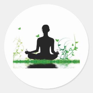 attitude zen sticker rond