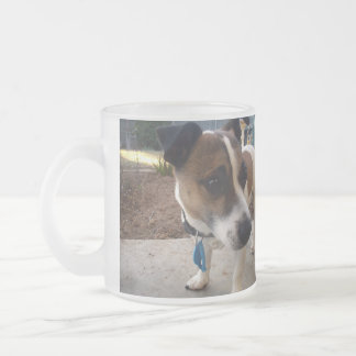 Attraction de Fox Terrier, tasse en verre givré