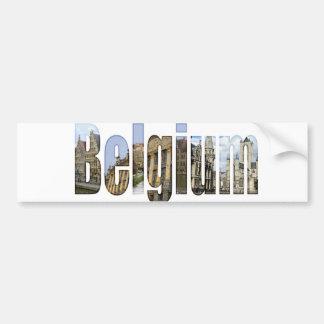 Attractions touristiques de la Belgique dans les l Autocollant De Voiture
