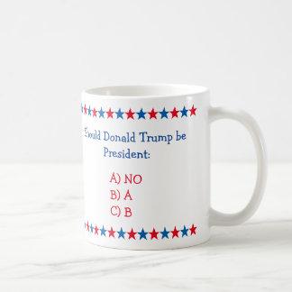 Au cas où Donald Trump serait le Président Funny Mug Blanc