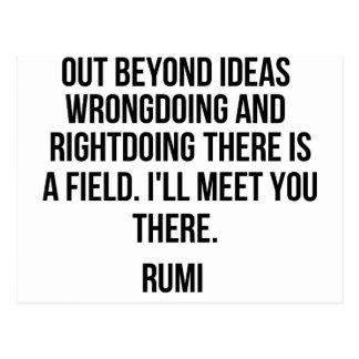 Au delà des idées… Rumi Carte Postale