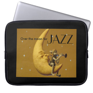 Au-dessus de la lune pour le jazz protection pour ordinateur portable