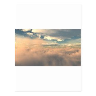 Au-dessus des nuages carte postale