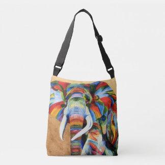 au-dessus du sac d'épaule avec l'éléphant coloré
