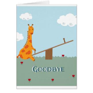 Au revoir carte