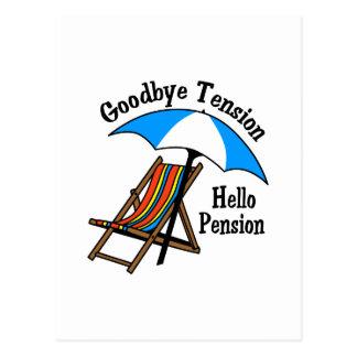 Au revoir pension de tension bonjour carte postale