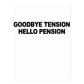 Au revoir pension T-Shirt.png de tension bonjour Cartes Postales