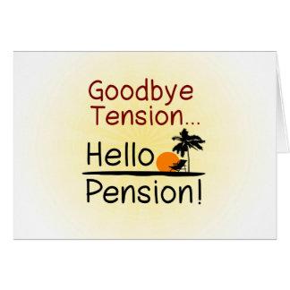 Au revoir tension, bonjour retraite drôle de carte de correspondance