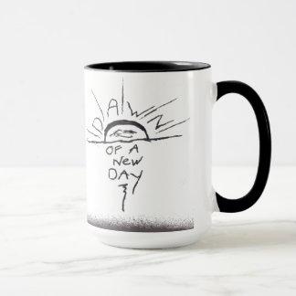 Aube d'une nouvelle tasse de café de jour