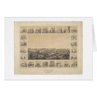 Auburn, carte panoramique de la Californie 1857
