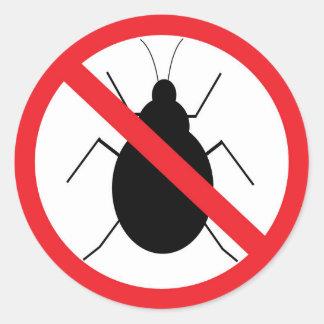 Aucun autocollant d'insecte