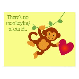 Aucun Monkeying autour la carte postale