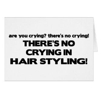 Aucun pleurer dans dénommer de cheveux carte