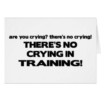 Aucun pleurer dans la formation carte