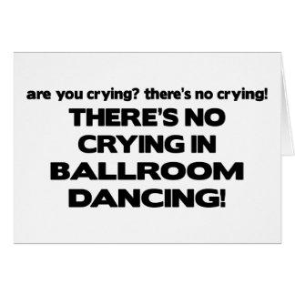 Aucun pleurer - danse de salon carte