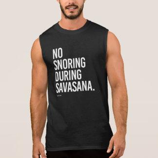 Aucun ronflement pendant le Savasana -   forme T-shirt Sans Manches