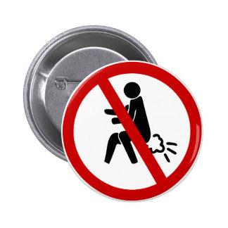 AUCUN ⚠ thaïlandais drôle de signe de toilette de Badge Rond 5 Cm