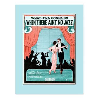 Aucune couverture vintage de musique de feuille carte postale