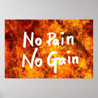Aucune douleur aucune citation de motivation de