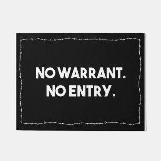 Aucune garantie. Aucune entrée. Police de barbelé Paillasson