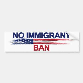 Aucune interdiction immigrée autocollant de voiture