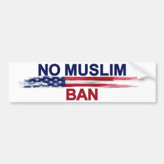 Aucune interdiction musulmane autocollant de voiture