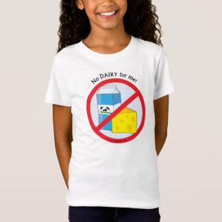 """""""Aucune laiterie pour moi"""" T-shirt de conscience"""
