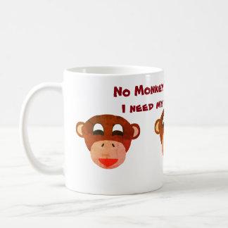 Aucune tasse d'affaires de singe