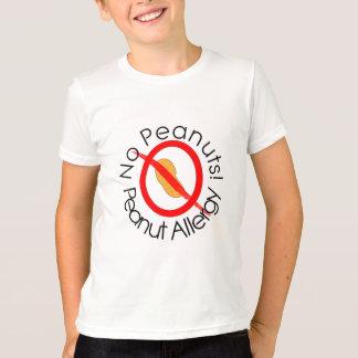 Aucunes arachides ! T-shirt d'allergie d'arachide