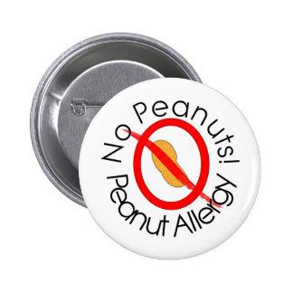 Aucunes conceptions d'allergie d'arachide d'arachi badge rond 5 cm