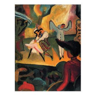 August Macke - ballet russe Carte Postale