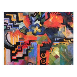 August Macke - composition colorée Carte Postale