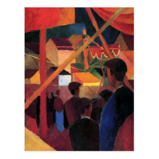 August Macke - marcheur de Tightrope Carte Postale