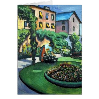 August Macke - un jardin Carte