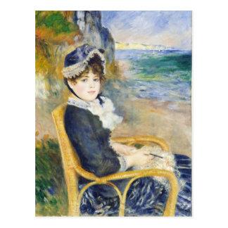 Auguste Renoir par l'art de bord de la mer Carte Postale