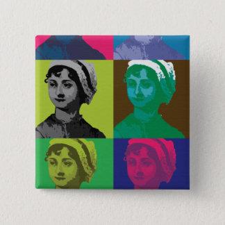 AustenPop -- Style de Jane Austen Badge Carré 5 Cm