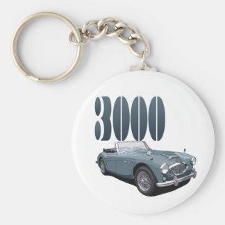 Austin Healey 3000 Porte-clé Rond