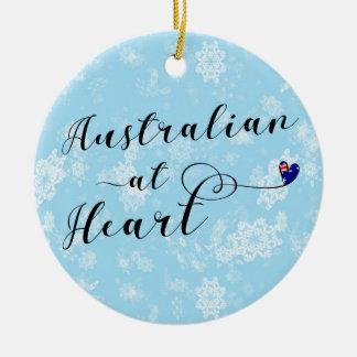 Australien au coeur, ornement d'arbre de Noël